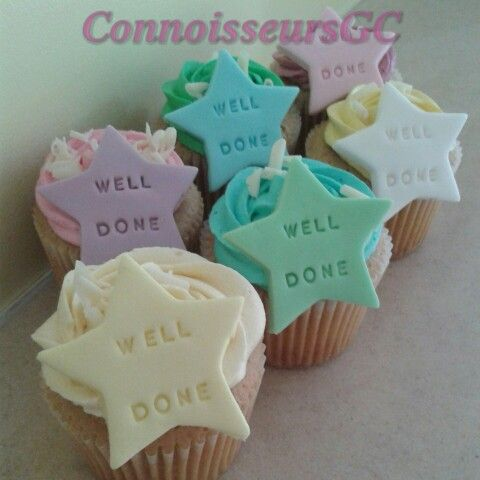 Well done cupcakes - new job celebration Inspired cupcakes - job well done