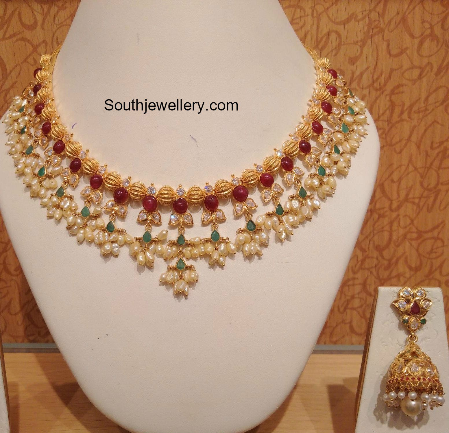 Latest gold necklace designs in grams pachi necklace latest jewellery - Pearls Necklace Latest Jewelry Designs Page 4 Of 30 Jewellery Designs