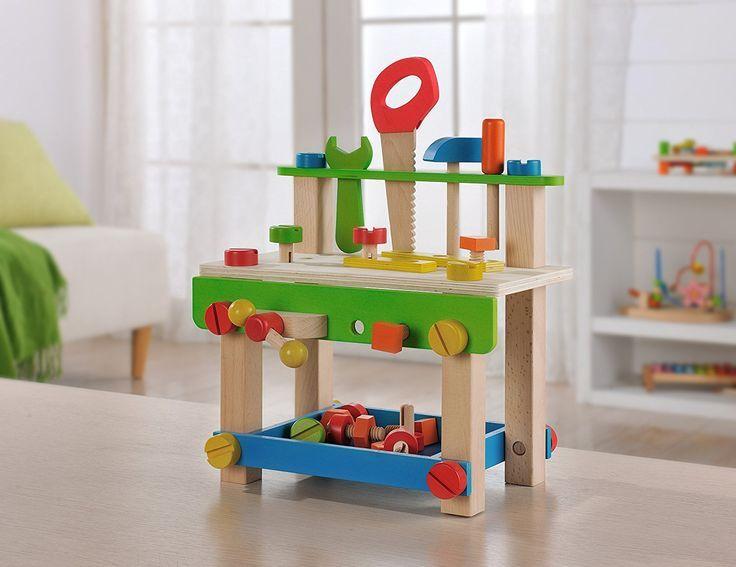 Holz Werkbank mit Zubehör | Holz Werkzeug für kleine ...