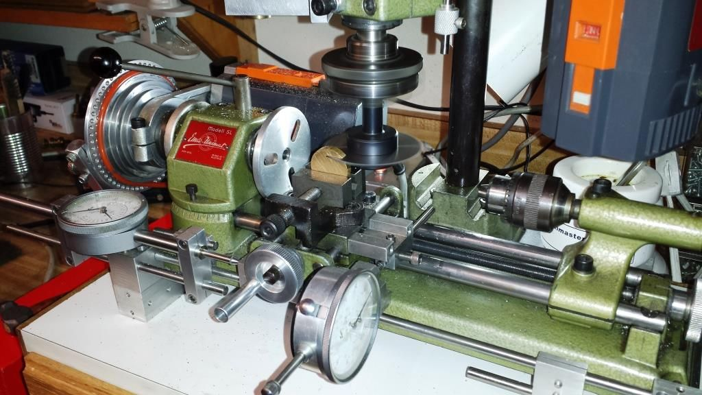 Machining brass key using Unimat and 28T slitting saw