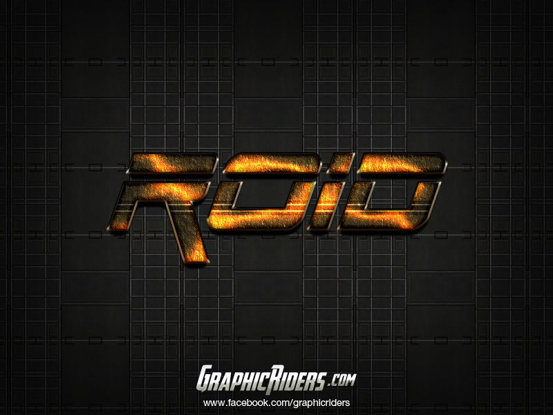 GraphicRiders | Sci-fi style – Roid (free photoshop layer style, text effect) #graphicriders