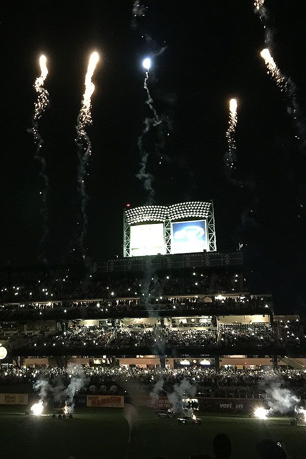 Fireworks night at Citi Field after the Mets game Mets