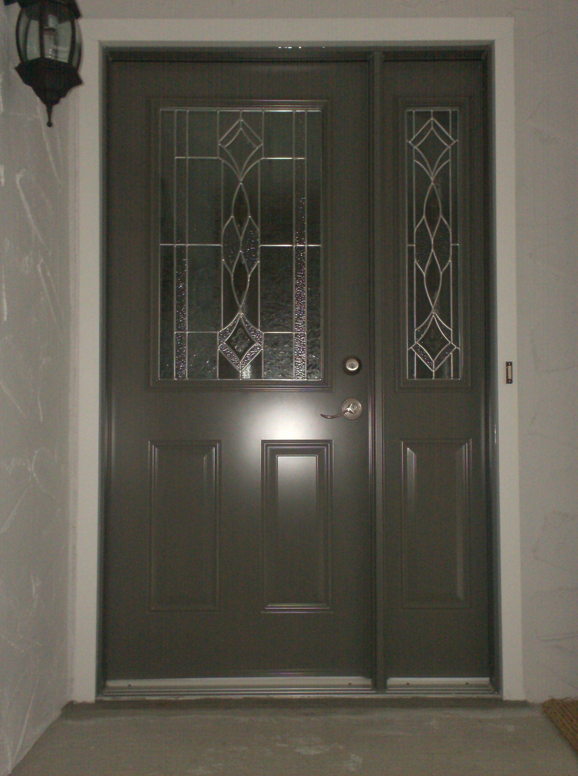Single Entry Doors With Glass melbourne glass insertodl, slate coloured single entry door