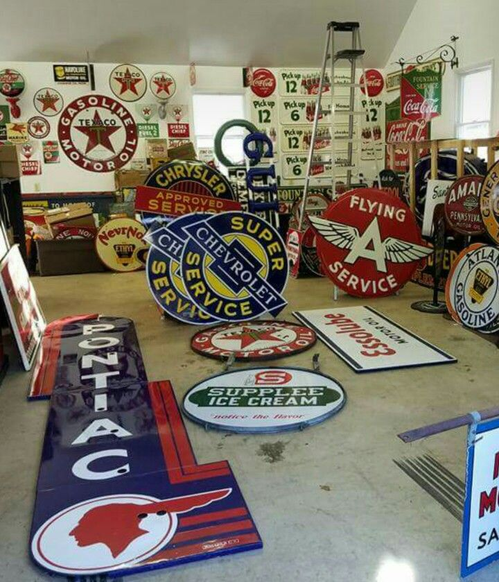 Incredible Porcelain Sign Collection!