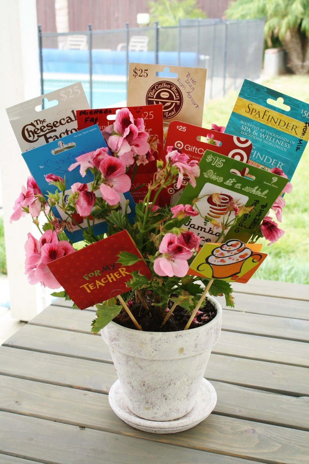 Gift Card Bouquet On Pinterest Gift Card Basket Gift