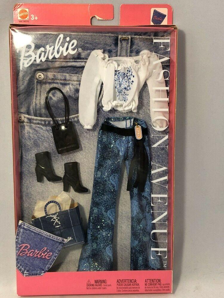 2002 Mattel Barbie Fashion Avenue Glitter Denim Jeans