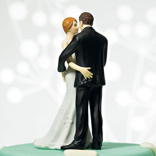 """Porcelain Romantic Black Wedding Cake Topper /""""Wedding Bliss/"""" Figurine"""
