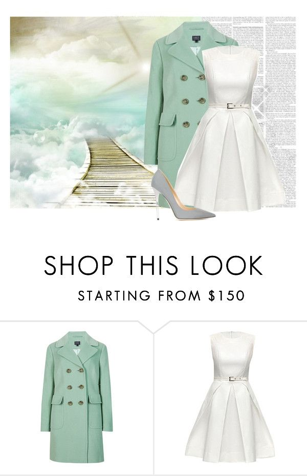 """White and Mint"" by fashionchick236 ❤ liked on Polyvore featuring M&S Collection, Lattori and Jimmy Choo"