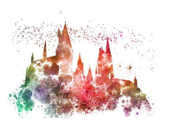Art Print Poudlard Illustration De Harry Potter Decoration