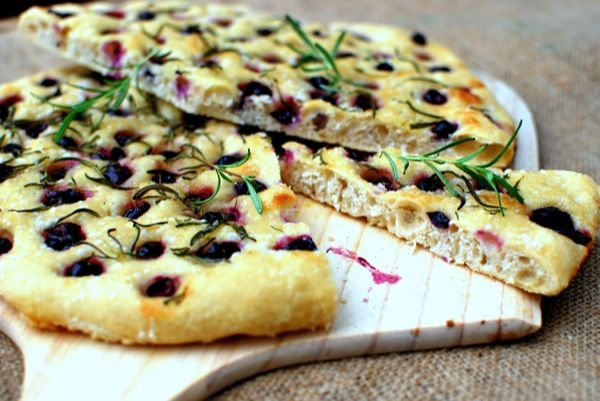 rustic harvest bread with merlot grapes
