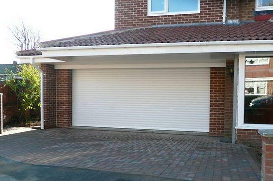 Standard Double Garage Door Size With White Paint Pinterest