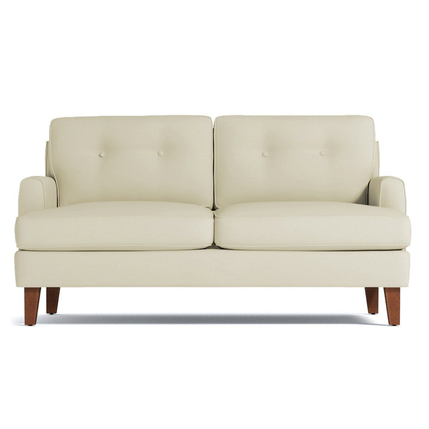 Virgil Apartment Size Sofa Leg Finish Pecan Size Apartment