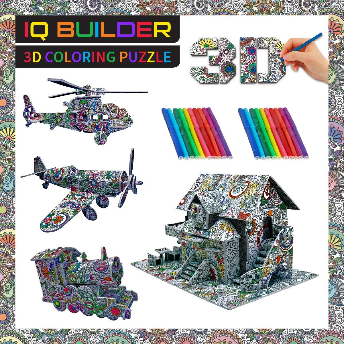 a277e159b IQ BUILDER FUN CREATIVE DIY ARTS AND CRAFTS KIT BEST TOY GIFT FOR GIRLS AND  BOYS AGE 8 9 10 11 12 YEAR OLD EDUCATIONAL ART BUILDING PAINTING COLORING  3D ...