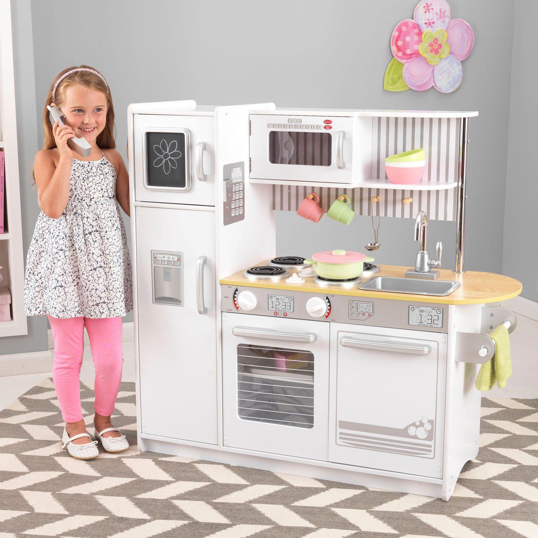KidKraft Uptown Kitchen, White | itsy bitsy | Kids wooden ...