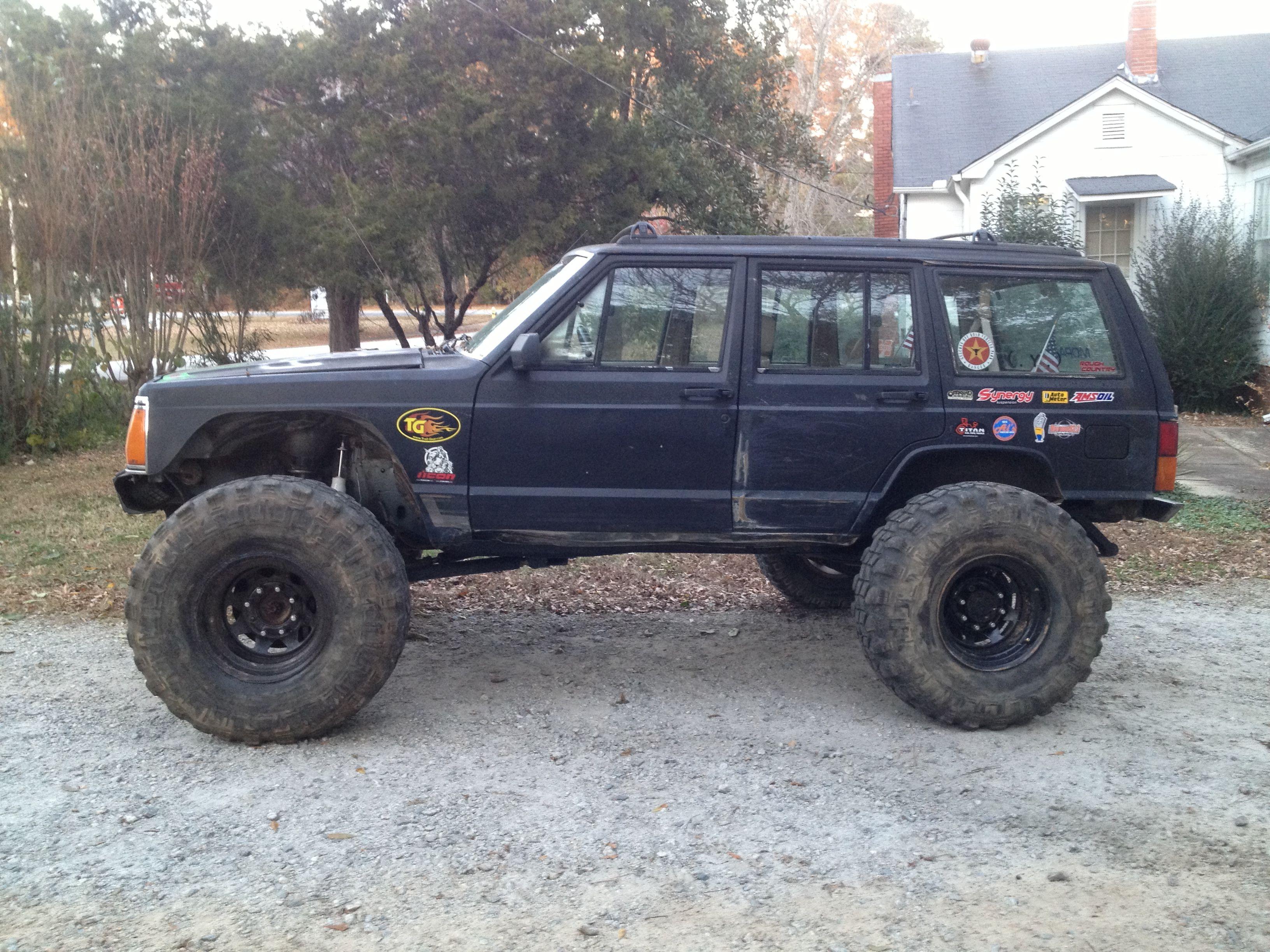 My Rock Crawler Xj Jeep Xj Jeep Cherokee Xj Lifted Jeep