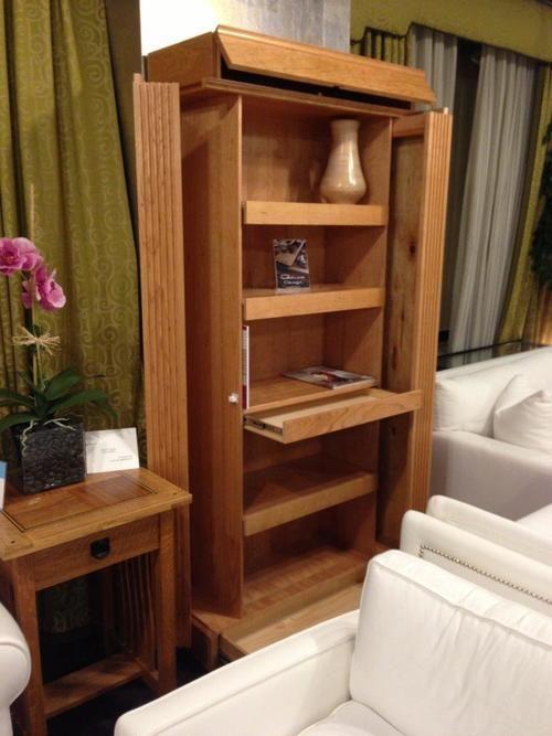 Entertainment center or bookshelves with secret for Secret storage bookcase