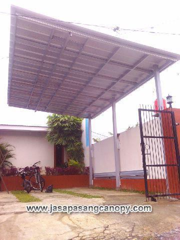 harga kanopi baja ringan atap spandek jual jabodetabek rumah minimalis