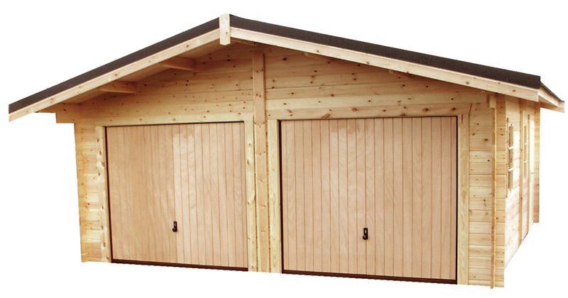 garage double en bois garage abri voiture garage. Black Bedroom Furniture Sets. Home Design Ideas