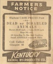KENTUCKY ANIMAL BY-PRODUCTS AD - GLASGOW, KY Glasgow Times ...