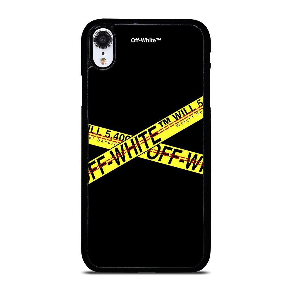 Off white logo strip iphone xr case casefine in 2020