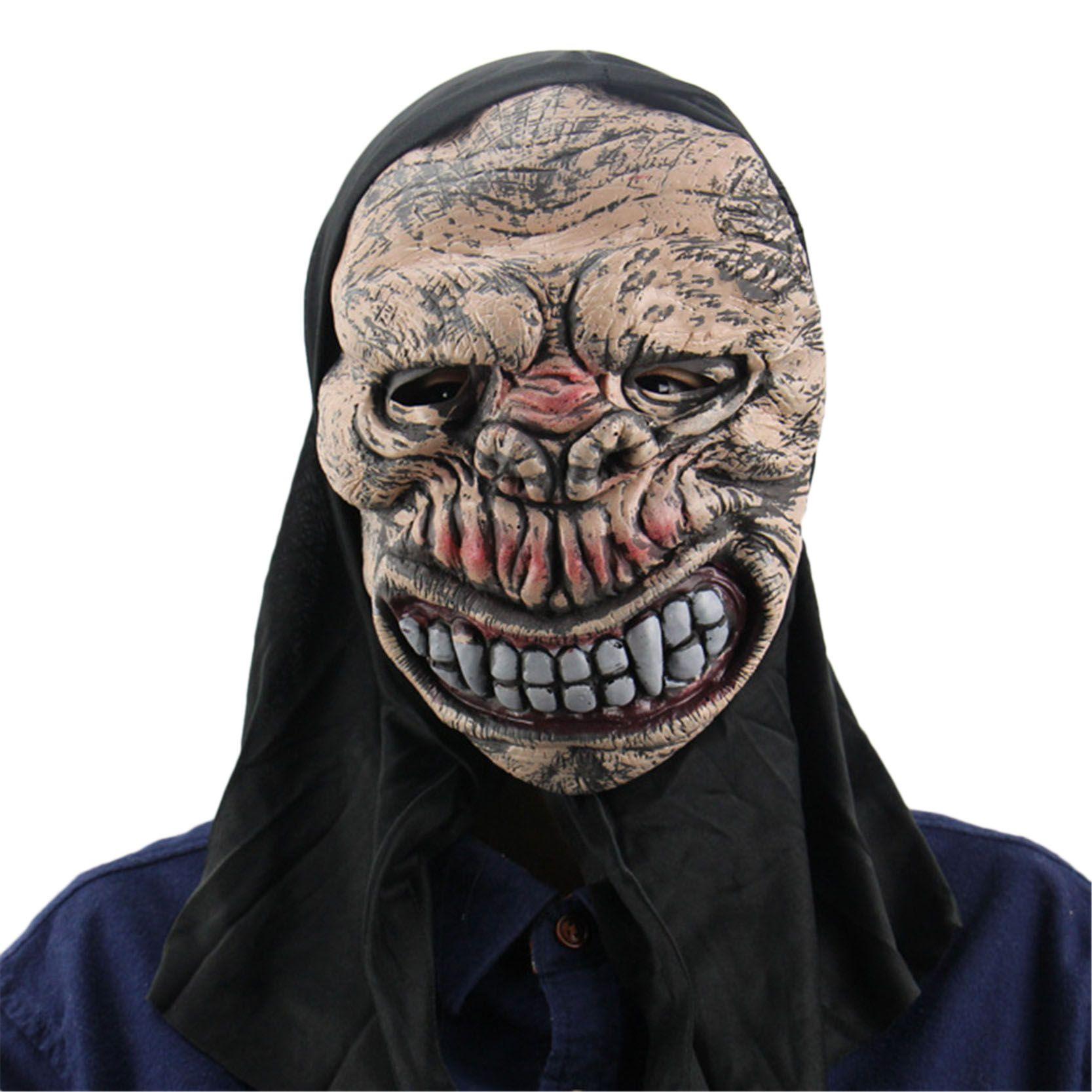 Free Shipping Halloween Prank Prop Long Black Hair Devil Full Head ...
