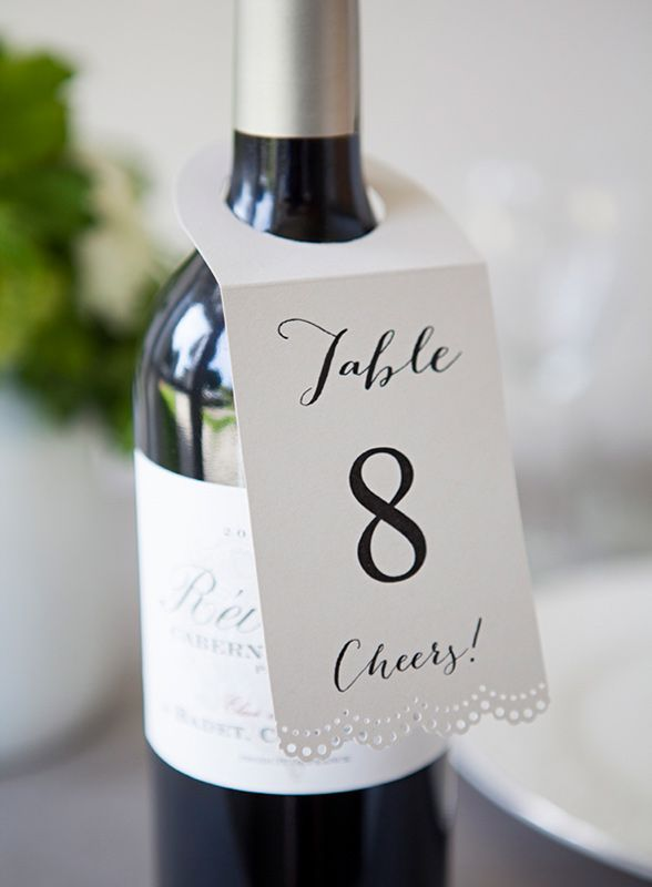 The 5 Easiest Diy Wedding Ideas For Your Day Party Table Numbers On Bottle Of Wine Each