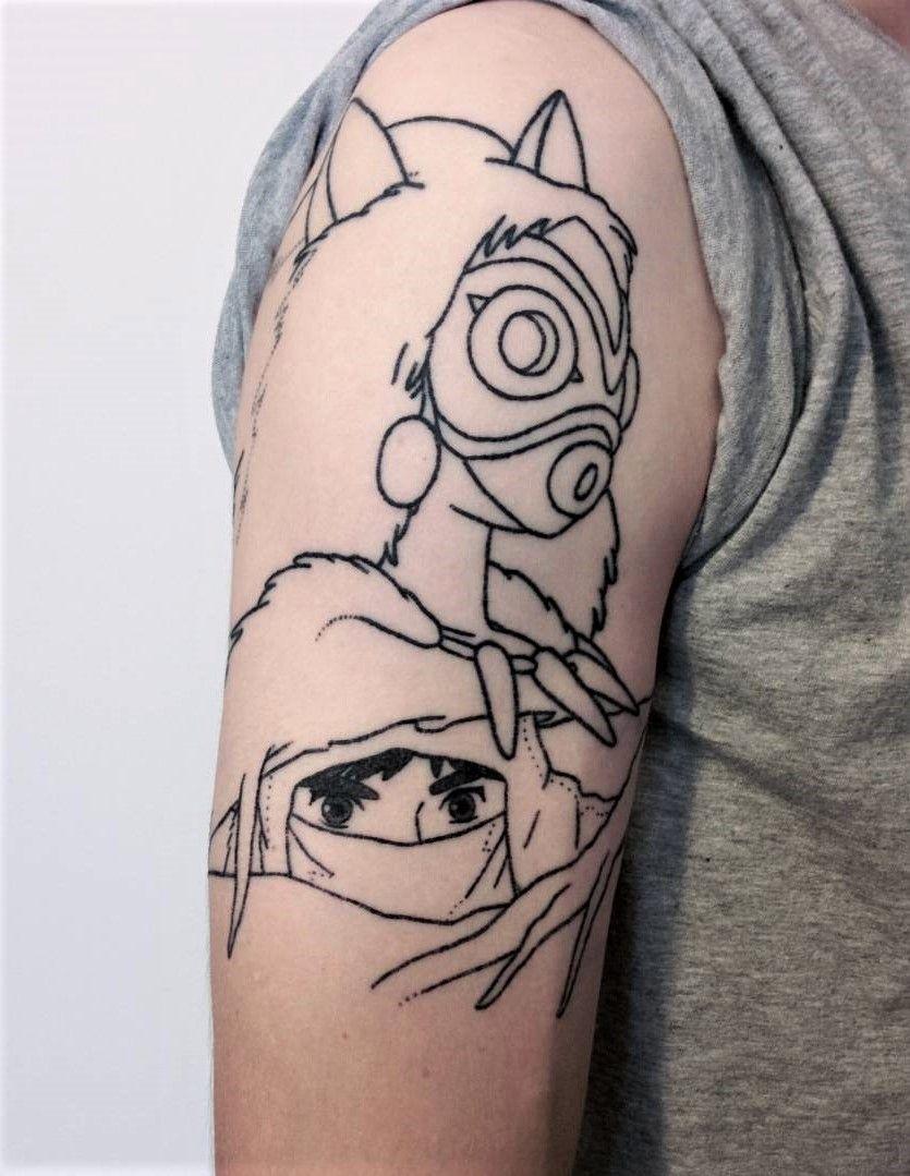 36 Studio Ghibli inspired Anime Tattoos Cool shoulder