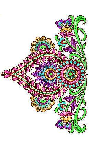King Style Clothing  Designer Border Embroidery Design