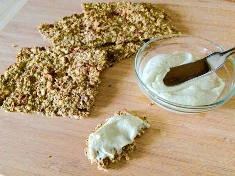 Cauliflower Chia Seed Cracker Bread Youtube In 2019 Chia Seed