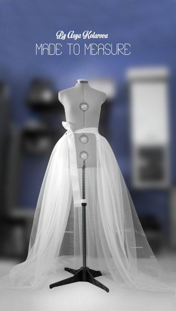 Detachable Tulle Overskirt Bridal Overskirt White Prom Bridal
