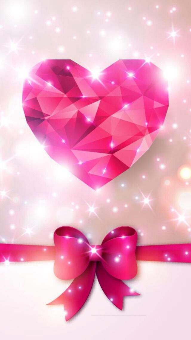Bow&heart sparkling