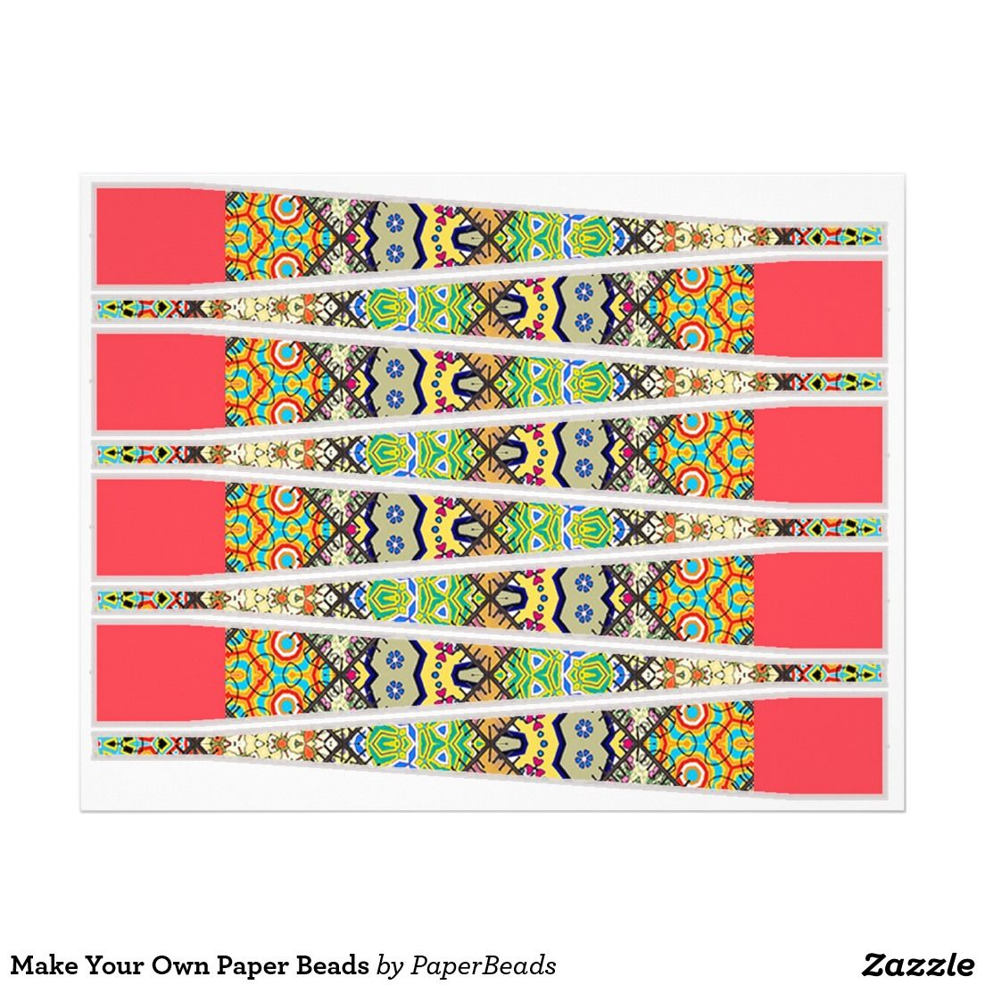 make your own paper beads