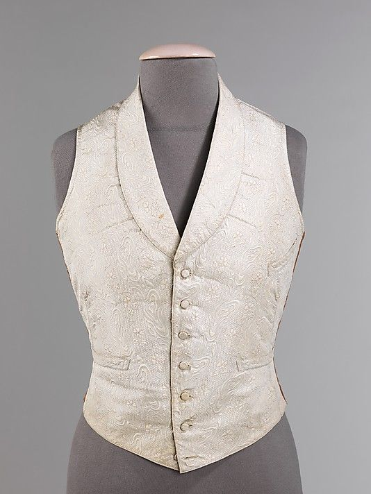 Vest, Evening  Date: 1850–55 Culture: American Medium: silk, cotton