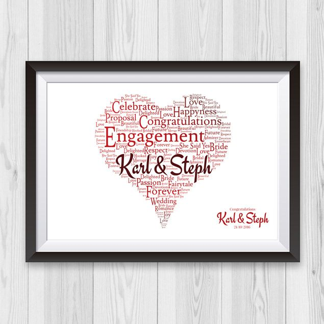 Engagement Present Ireland The Quot Name In Heart Engagement Gift Quot Is Such A Cute Engagement Gif Heart Engagement Cute Engagement Gifts Engagement Gifts