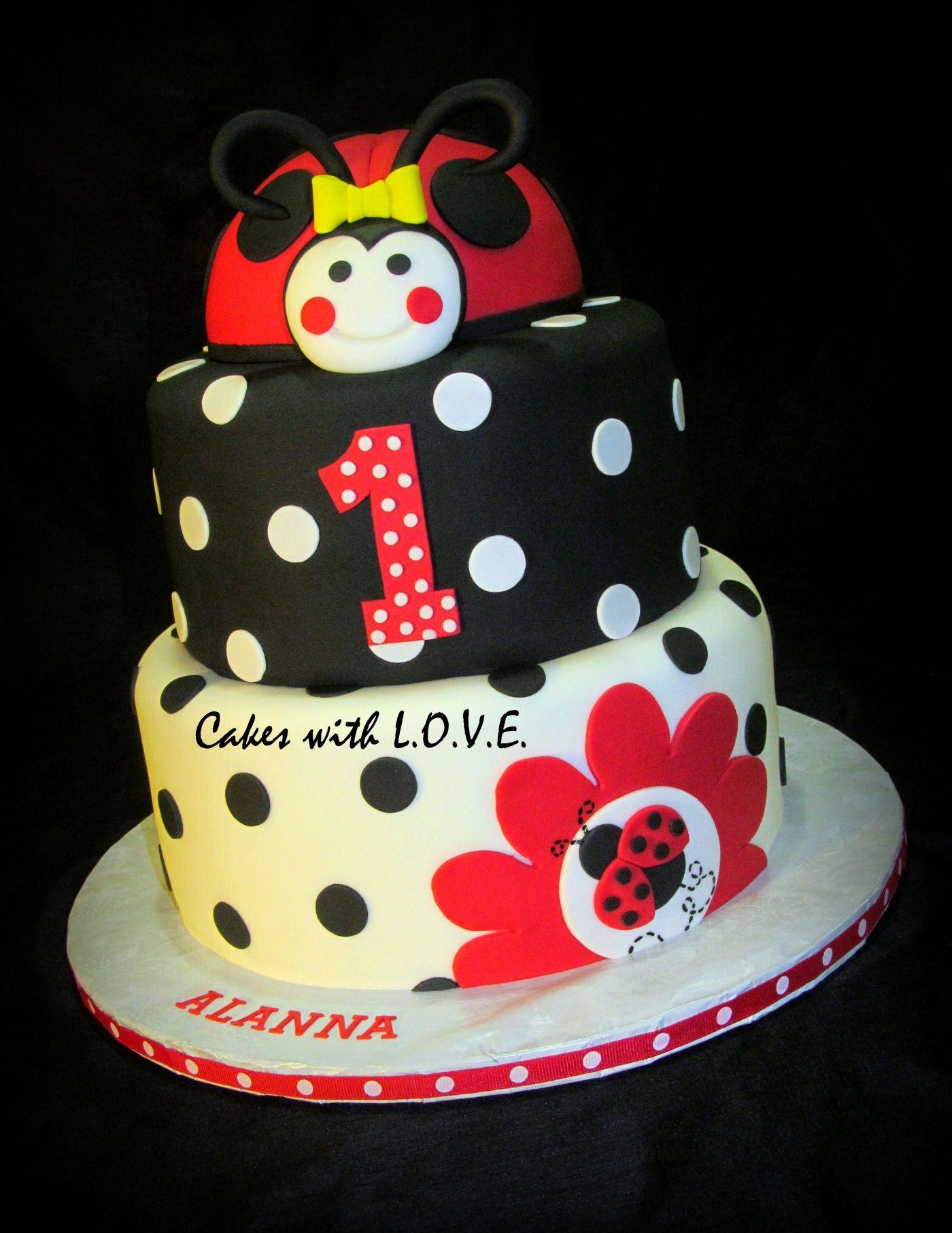 Ladybug 1st Birthday Cake Cake Recipe