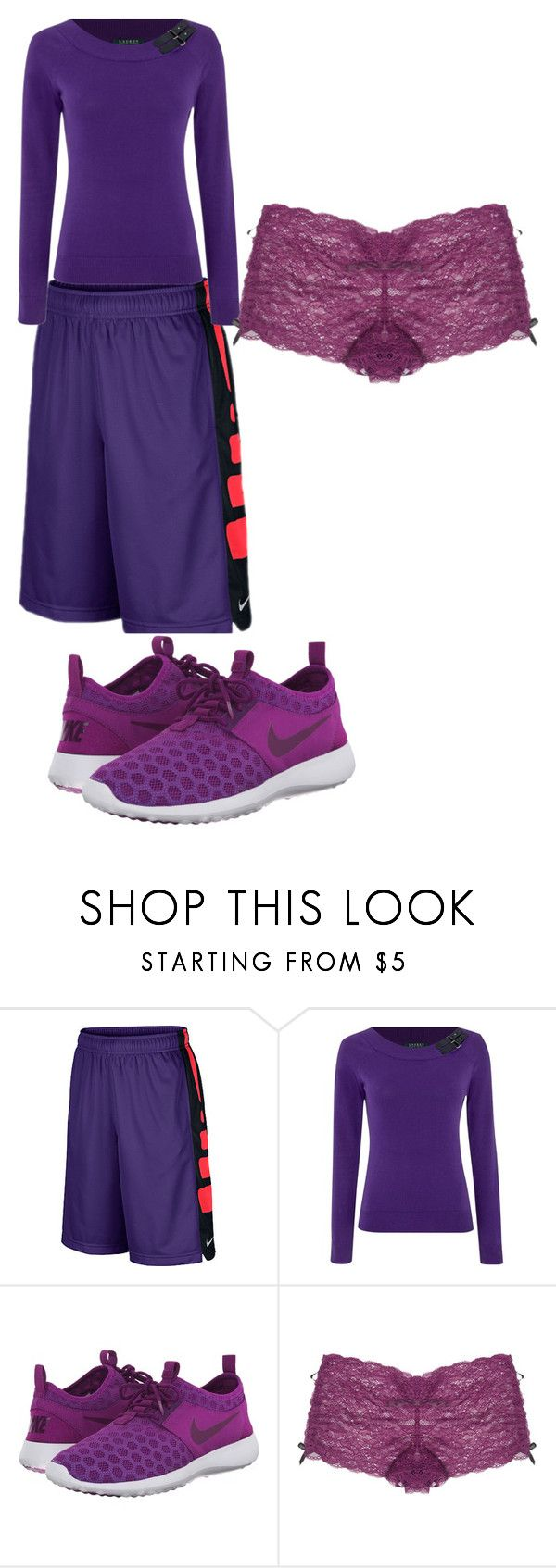 """""""Purplee!!!!"""" by daisy-owens on Polyvore featuring NIKE, Lauren Ralph Lauren and Wet Seal"""