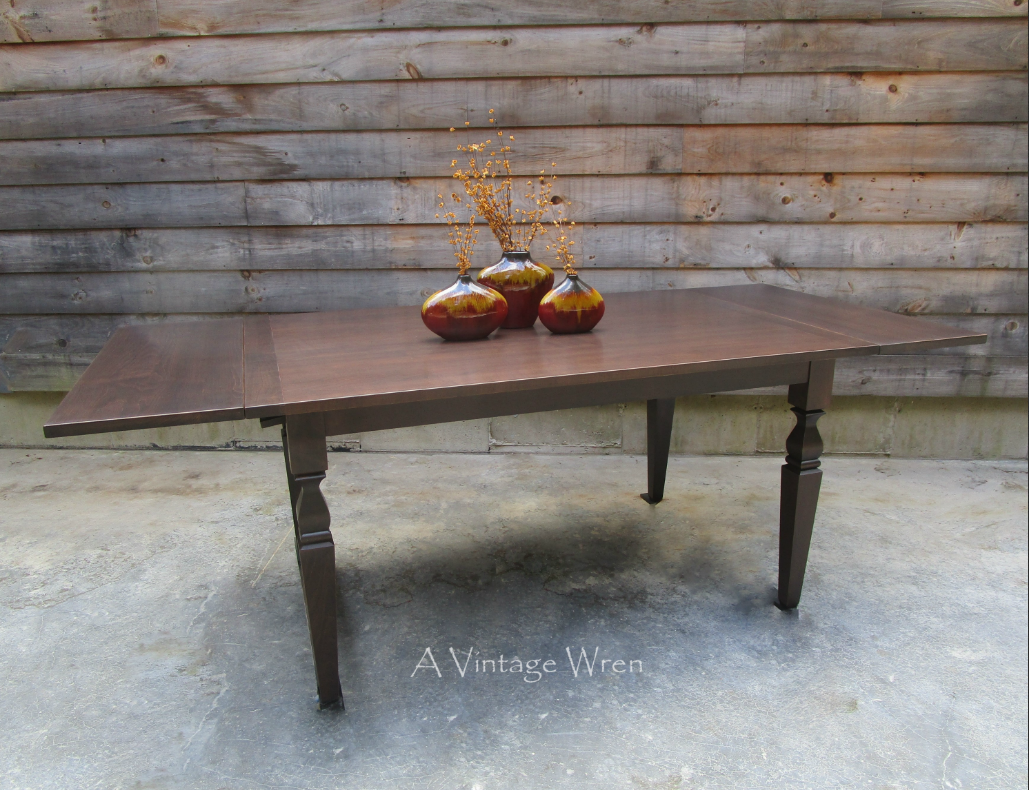 A Custom Made Solid Red Maple Table With Company Board Extensions