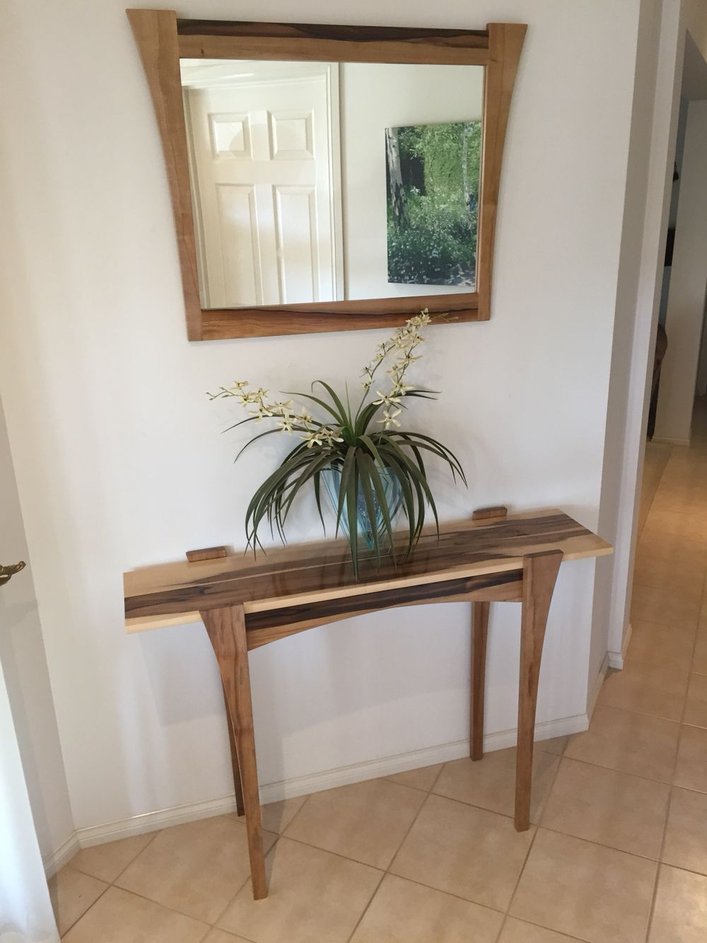 Mirror Hall Table black heart sassafras hall table and matching mirror | timber hall