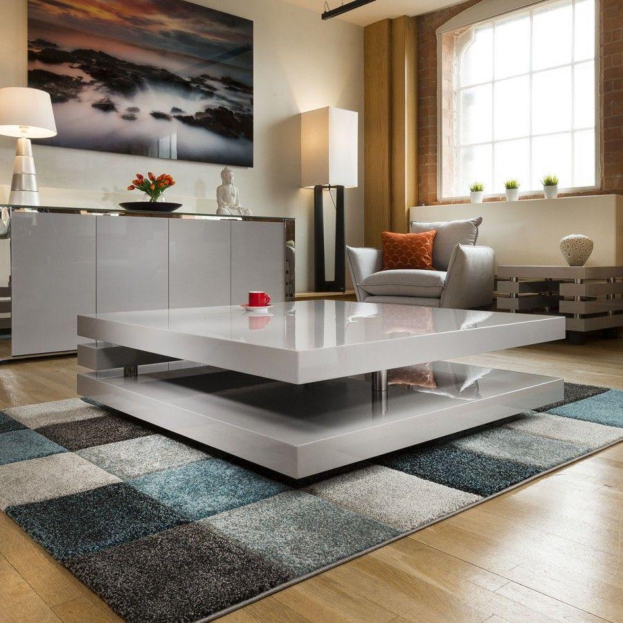 Superb Extra Large Modern Square Grey Gloss 1 2mt Coffee Table 397e Coffee Table Extra Large Coffee Table Modern Square