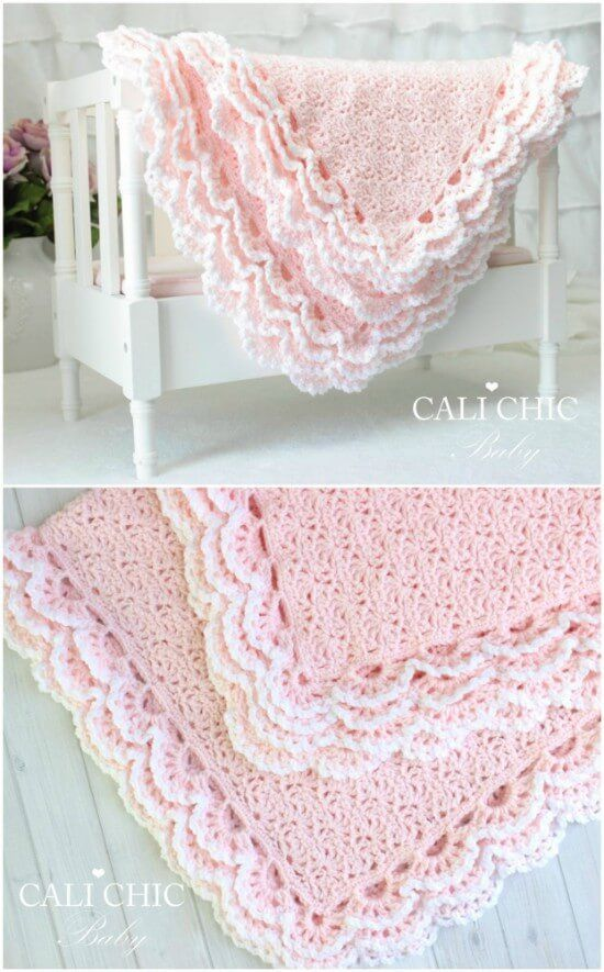 Photo of Stunning Edged Baby Blanket Crochet Patterns #crochet baby blanket free pattern …