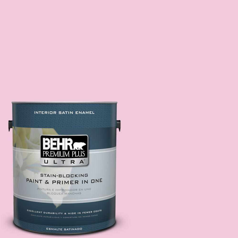 BEHR Premium Plus Ultra 1-gal. #P130-1 Piggy Bank Satin Enamel Interior Paint