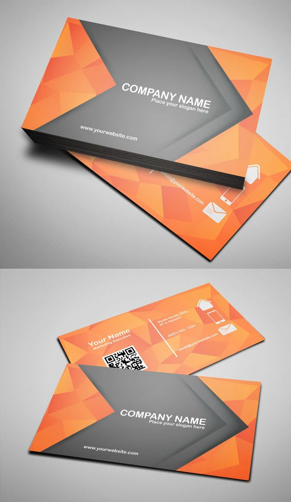 Free Modern Business Card Template (PSD) | Modern business card ...