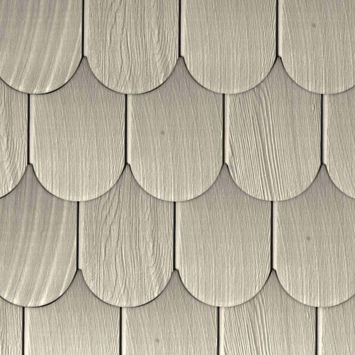 6 Inch W X 60 Inch L Exposure Vinyl Round Shingles 20 Panels Ctn 50 Sq Feet 116 Seashell Shingling Paneling Sea Shells