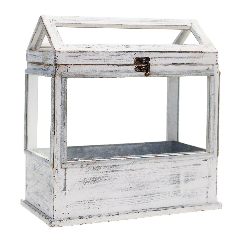 International White Wood Metal Plastic Planter Box Planter Box  # Muebles De Pino Taeda