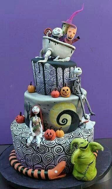 Pin by Mirishikiari Shou on My favorite holiday Pinterest Cake - tim burton halloween decorations