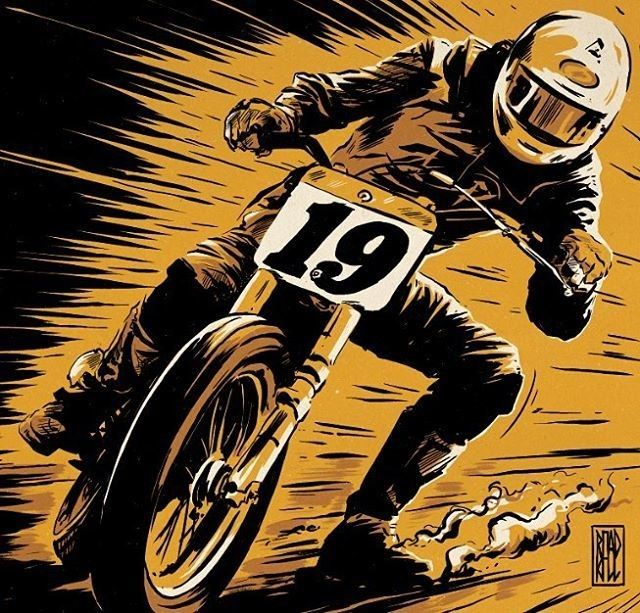 caferacerpasion.com Ryan Quickfall's illustration [TAGS] #caferacerpasion #suzuki #caferacersofinstagram #caferacerxxx #caferacerporn #caferacergram #illustration #motorcycles #design #motos