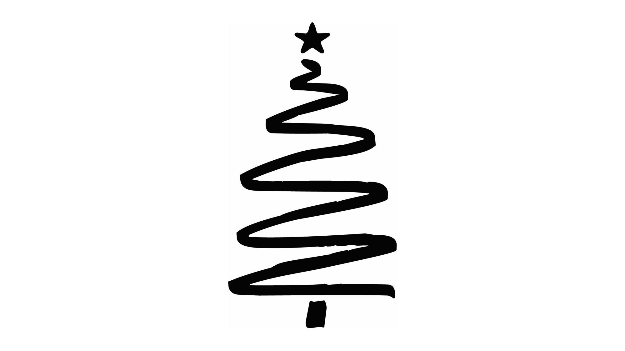 Holiday Clip Art Black White Squiggle Sketched Pine Etsy Christmas Tree Nail Art Holiday Clipart Christmas Tree Drawing