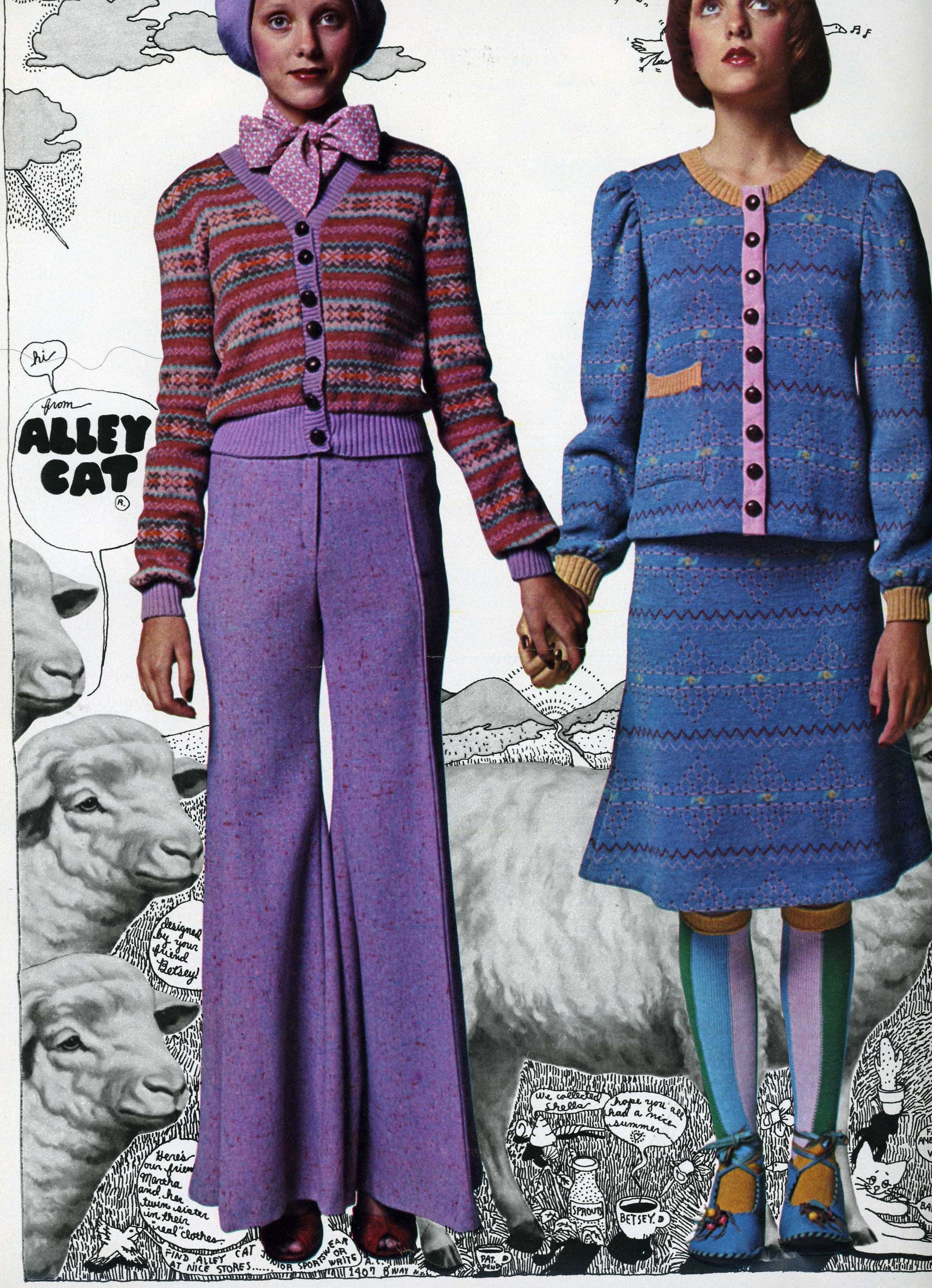 Alley Cat from Betsey Johnson. Early 1970s, Seventeen magazine.