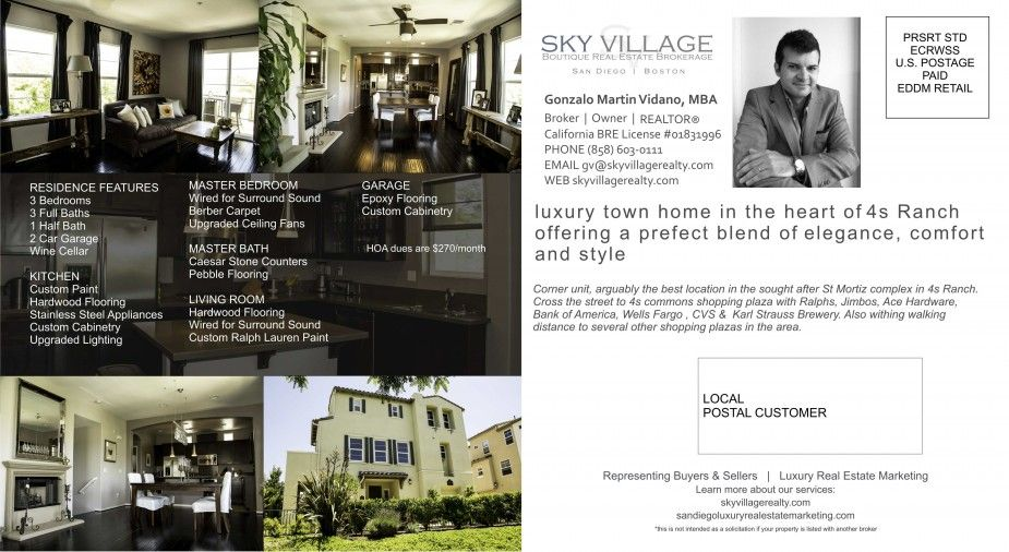 real estate print marketing services for san diego homes luxury