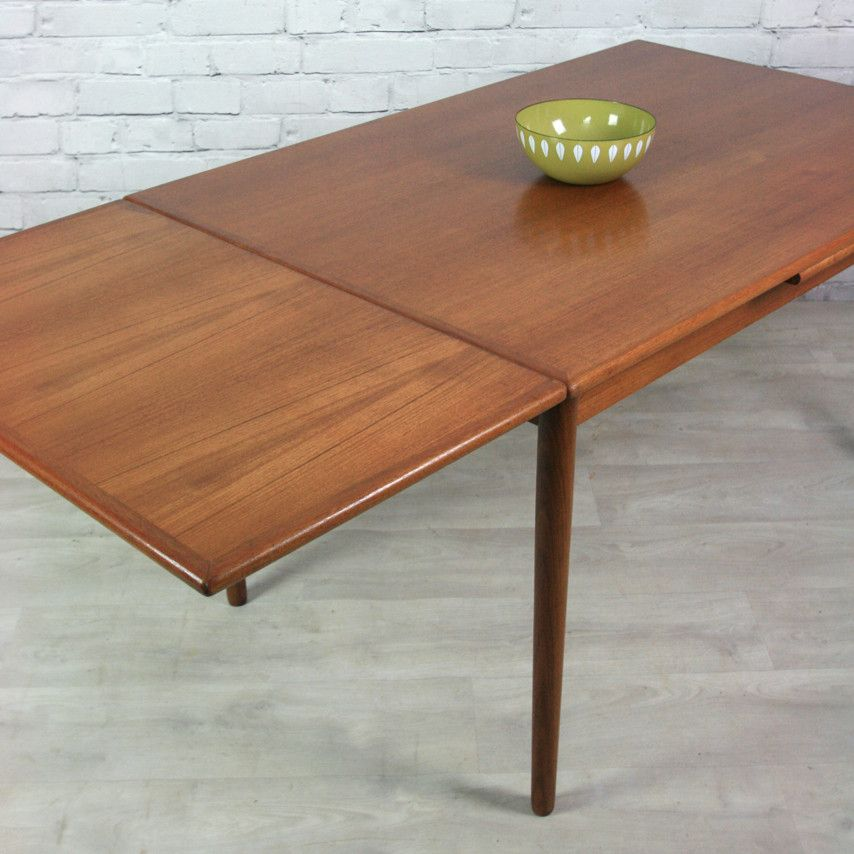 Vintage Danish Teak Extending Dining Table  Teak Dining And Vintage Extraordinary Teak Dining Room Furniture Decorating Design